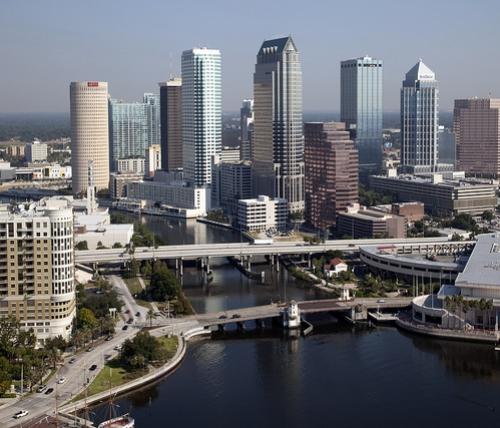 Downtown Tampa along the Hillsborough River
